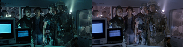 Aliens Colour Grading Comparison