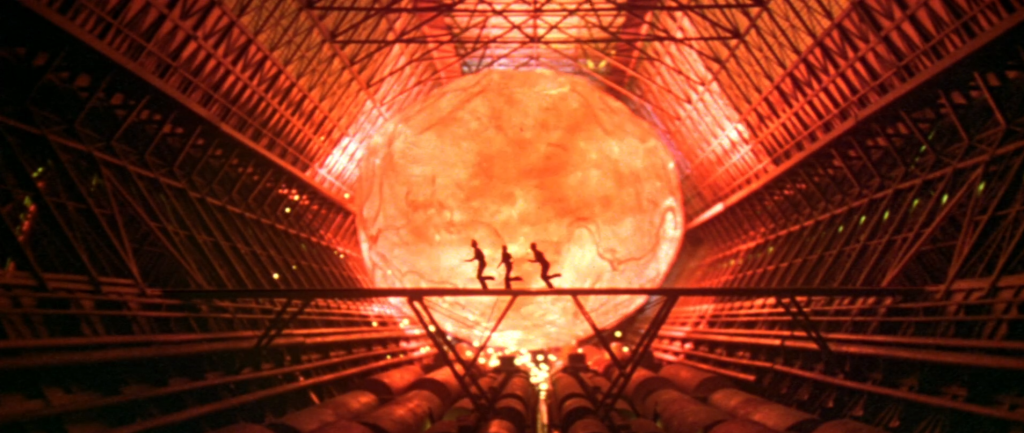 A giant red hot meteor rolls down the Cygnus towards our escaping heroes.