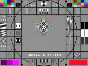 CLD-925 test pattern, showing typical 2D comb filter artifacts.