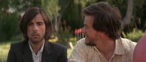 Albert Markovski (Jason Schwartzman) and Tommy Corn (Mark Wahlberg) in I Love Huckabees